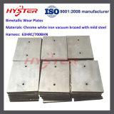 les plaques bimétalliques d'usure du fer 700bhn blanc ont feuilleté des doublures d'usure