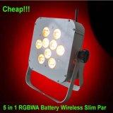 De goedkope 5in1 LEIDENE Op batterijen van Rgbaw 15W Verlichting van het Stadium