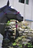 Персонализированный Braided Halter лошади PP кроны с концом кожаный прокладки руководства