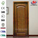 Porte en bois de placage d'acajou de salle à manger