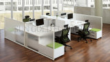 Estação de trabalho moderna personalizada fábrica do escritório do painel de 6 pessoas (SZ-ODT601)