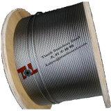 AISI 304 스테인리스 철사 밧줄 7X7 3mm