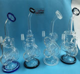 Mixed Color Borosilicate Perc Recycler Glass Pipe for Tobacco Smoking