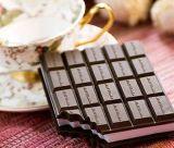 Le chocolat en plastique de qualité a formé le cahier mou de couverture de silicium (BK-053)
