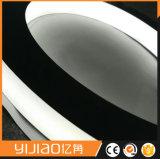 Signe de lettre en métal d'acier inoxydable, signe de rétroéclairage de DEL
