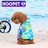 De blauwe OceaanLaag van de Hond van de Hond van het Patroon van de Bloem Waterdichte Opgevulde