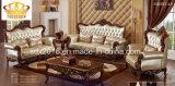 Sofá europeu do couro do estilo do projeto novo para a mobília da sala de visitas
