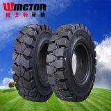 28X9-15 pneu solide pour le chariot élévateur de Linde, pneu de chariot élévateur de cliquetis de pneu de Linde