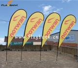 2.8m Tradeshow Aluminium Digital Printing Teardrop Banner/Teardrop Flag/Flying Flag