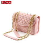 공장 Cheap Pricediamond Quilt와 Rivet Lady Designer Leather Handbags (LD-1512)