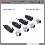 Solderless Terminals Power Connector Types Pull Push Quick 3pin Round Connector 또는 Wiring Connector