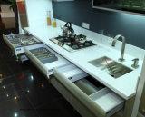 Hoher glatter Acryl MDF-Küche-Schrank