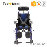 Topmedi Reclining High Back Wheel Chair para Cerebral Palsy Children