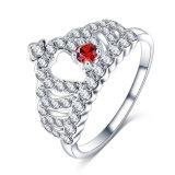 CZ 다이아몬드 왕 크라운 여왕 반지 도매 (CRI1011)