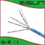 Cabo aprovado UTP do twisted pair de ETL/CE/RoHS/ISO, 4 pares, PVC Cat5e