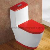Courroie de rinçage d'économie de l'eau de Siphonic de toilette d'une seule pièce en céramique (A-005)