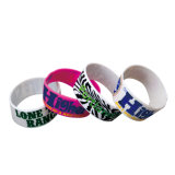 Gedruckt u. Enamel Infill Silicone Wristband in Adult u. in Children Sizes (W102)