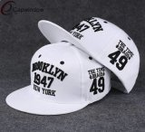 Ala plana Snapback del sombrero con bordado del diseño personalizado