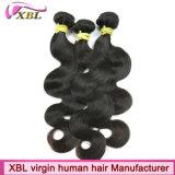 バージンのインドの人間の毛髪の波状毛の拡張