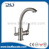 クロムBrass Pure Water Filter Mixer三方Kitchen Sink Faucet