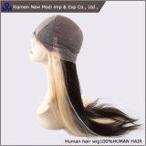Tono due e parrucca piena diritta stratificata del merletto dei capelli umani
