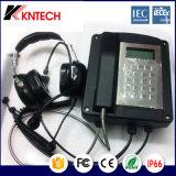 Telefone à prova de explosões usado mina Koontech da área de Iecex Atex Dengerous