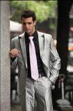 남자는 적당한 결혼식 한 벌 형식 하나 단추 재킷 바지를 체중을 줄인다