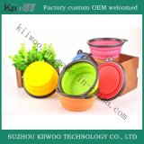 Bacia Multicolor de venda quente do animal de estimação da borracha de silicone