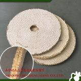 Roue de polissage de polissage de sisal de tissu d'outils pour le polonais matériel en métal de la bonne force de découpage