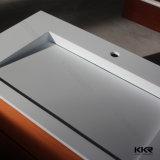 Lavabo di pietra artificiale bianco del controsoffitto della stanza da bagno (B1612223)