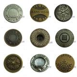 Prendedores de bronze das teclas das calças de brim da estrela para vestuários
