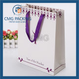 Bolsos de compras coloridos baratos bolsa de regalo de papel de artesanía