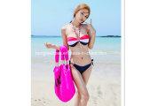 소녀 고삐 목 귀여운 섹시한 비키니 수영복