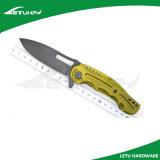 Cuchillo Pocket plegable anodizado aluminio de la maneta