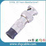 Schakelaars BNC voor Rg58 Rg59 RG6 de Coaxiale Kabel van Rg213