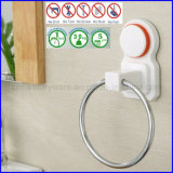 Вешалка кольца полотенца ванной комнаты кронштейна чашки всасывания силиконовой резины