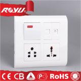 Interruptor de botón eléctrico del diseño de la India
