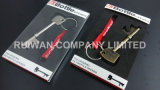 Zinco Alloy Metal Keychain com Epoxy Sticker