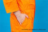 Bata larga del Workwear del poliester 35%Cotton de la seguridad el 65% de la funda con reflexivo (BLY1017)