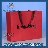 Couleur Red Paper Bag avec Printing/Foil/Gold Hot Stamping Logo