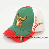 Выдвиженческая изготовленный на заказ бейсбольная кепка с логосом вышивки