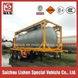 envase del tanque 21000L con el acoplado aislado calefacción del fósforo del amarillo del sistema semi