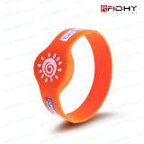 Silicone RFID Wrisrband del chip di modo ISO14443A RFID