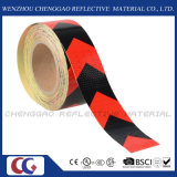 Стикер отражательной безопасности PVC напечатанный таможней предупреждающий с стрелкой (C3500-AW)