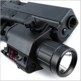 Taktischer Rot-Laser-Anblick und LED-Taschenlampe für Picatinny Schiene