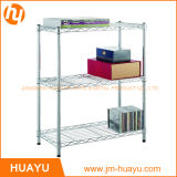 Heißes Sale Adjustable 3-Tier Chrome/Powder Coated Wire Display Stand