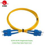 PC Sc / UPC / APC Simplex Duplex monomodo de fibra óptica multimodo Patch Cable