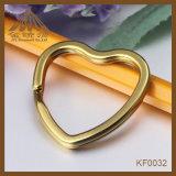 Anelli spaccati Nizza di qualità di modo dell'oro del cuore di colore