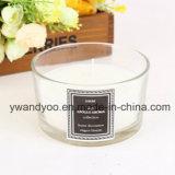 Vela de cristal perfumada decorativa del tarro de tres fieltros