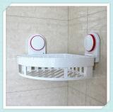 Étagère faisante le coin de salle de bains avec le panier de mur d'entreposage en cuvette d'organisateur de crémaillère de douche d'aspiration